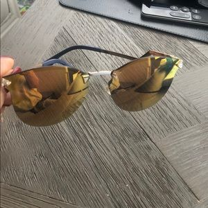 Fendi mirrored sunglasses,some scratches MSRP $565